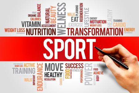 fitness and health: SPORT nube di parola, il fitness, il concetto di salute