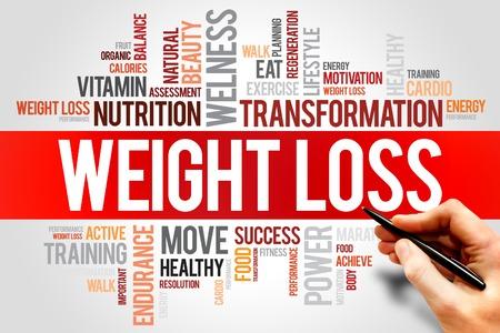 GEWICHTSVERLIES woordwolk, fitness, sport, gezondheid concept Stockfoto