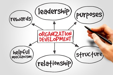 Organization development mind map, business concept