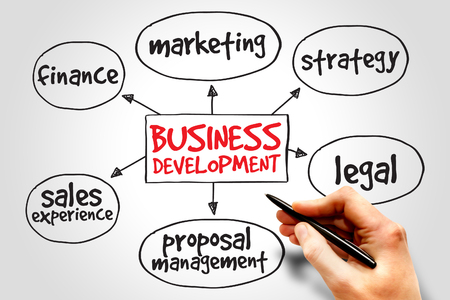 Business development mind map, business concept