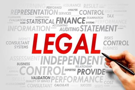 authorship: LEGAL word cloud, business concept