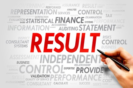 salient: RESULT word cloud, business concept Stock Photo