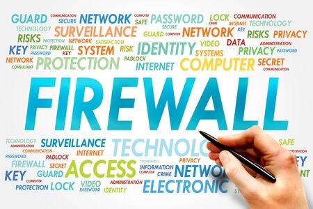 trojanhorse: FIREWALL word cloud, security concept