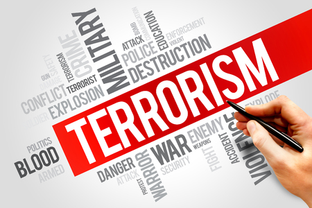 discord: Terrorism word cloud concept