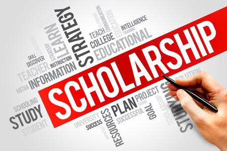 scholarship: Scholarship word cloud, education concept
