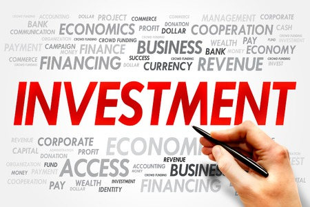 investment risks: INVESTMENT word cloud, business concept