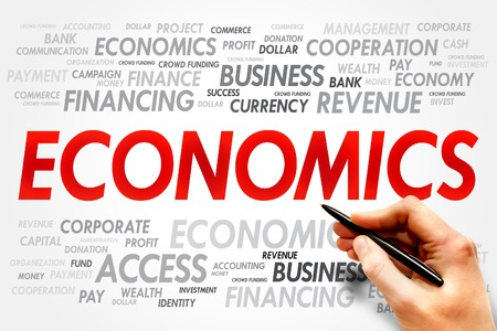 monetary policy: ECONOMICS word cloud, business concept
