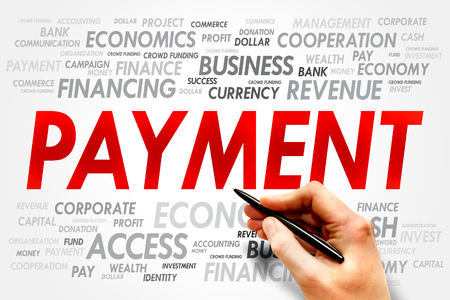 downpayment: PAYMENT word cloud, business concept