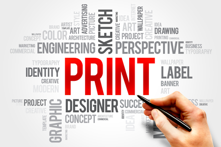 prepress: PRINT word cloud concept