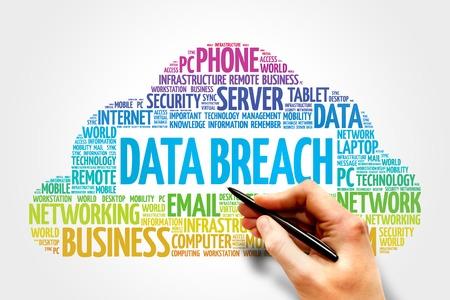 intentional: Data Breach word cloud concept