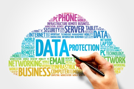 Data protection word cloud concept