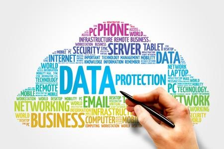 Protection des données notion mot nuage Banque d'images - 40766300