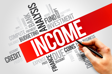 INCOME word cloud, business concept Stock Photo