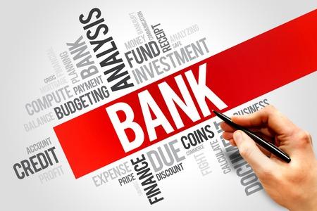 magnate: BANK word cloud, business concept