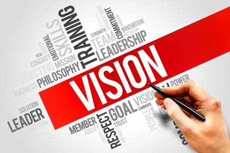 vision business: VISION word cloud, business concept