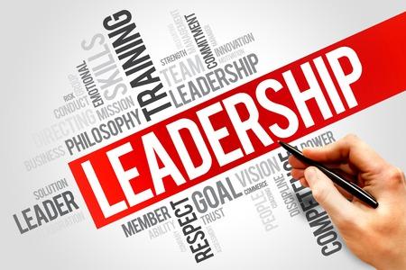 liderazgo empresarial: LIDERAZGO nube de la palabra, concepto de negocio