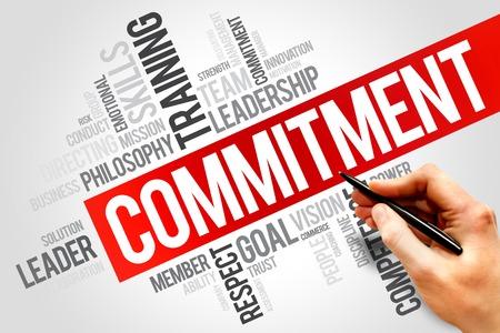 comit� d entreprise: Engagement nuage de mot, concept d'entreprise