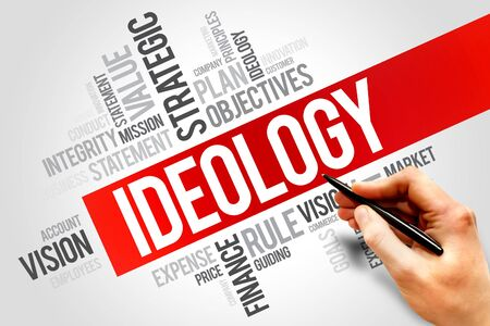ideology: Ideology word cloud, business concept Stock Photo