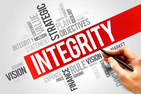 wholeness: Integrity word cloud, business concept