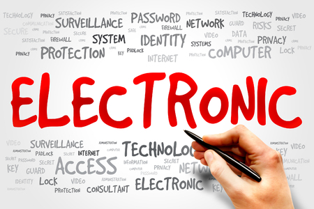 ELECTRONIC word cloud, business concept photo
