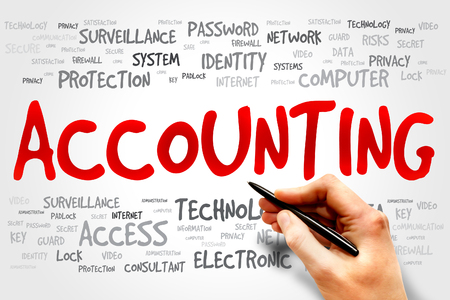 payable: ACCOUNTING word cloud, business concept Stock Photo