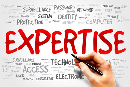 expertise concept: EXPERTISE word cloud, business concept Stock Photo