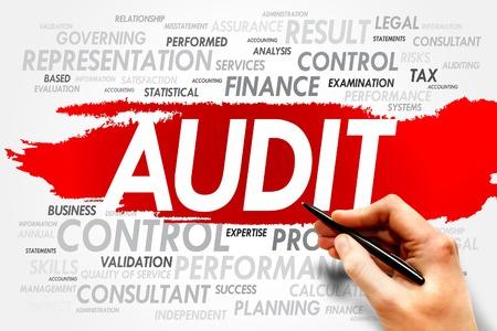 auditoría: AUDITORÍA palabra nube, concepto de negocio