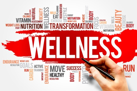 bodies of water: WELLNESS word cloud, fitness, sport, health concept