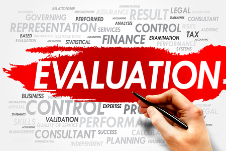 formative: EVALUATION word cloud, business concept Stock Photo