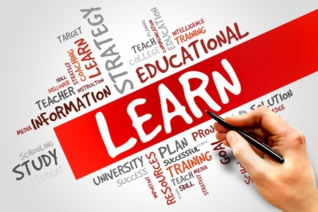 LEARN word cloud, education concept Stock Photo
