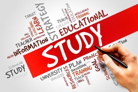 cloud based: STUDY word cloud, education concept