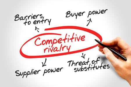 porter: Competitive rivalry porter five forces business concept Stock Photo