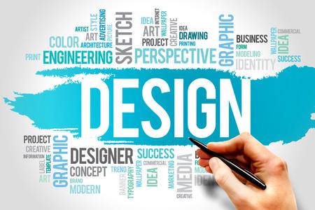 DESIGN word cloud, creative business concept photo