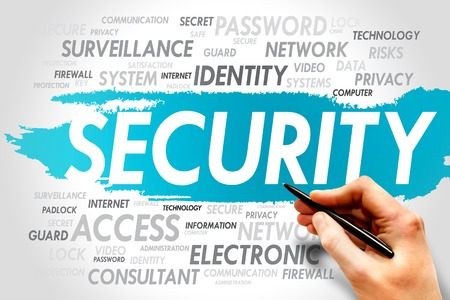cyber defence: SECURITY word cloud, business concept