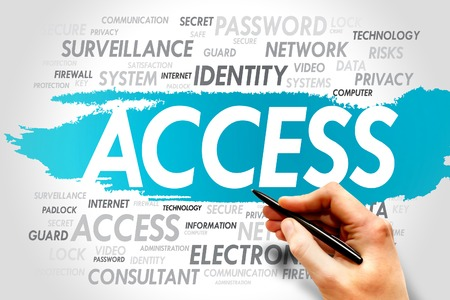 ACCESS word cloud, security concept photo