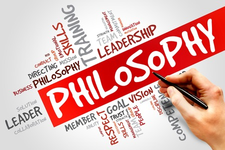 Philosophy word cloud, business concept