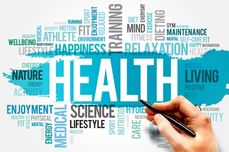здравоохранения: ЗДОРОВЬЕ Концепция слово облако