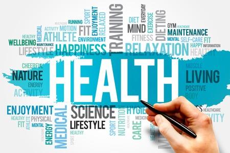 salud: Palabra SALUD concepto de nube