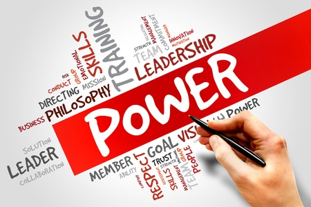 powerful creativity: POWER word cloud, business concept Stock Photo