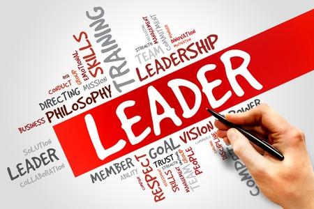 LEADER word cloud, business concept Banque d'images