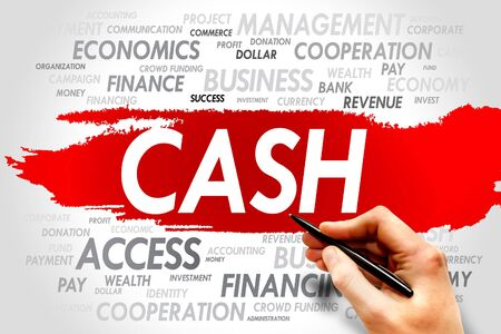 current account: CASH word cloud, business concept Stock Photo