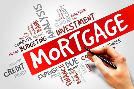 variable rate: MORTGAGE word cloud, business concept Stock Photo