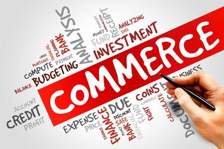 commerce: COMMERCE word cloud, business concept