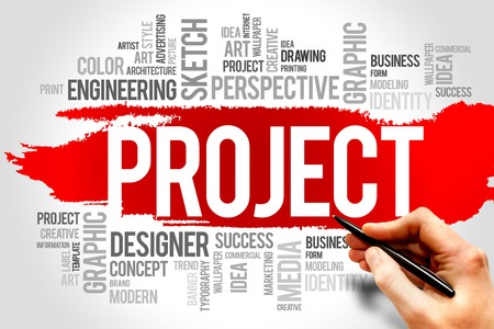 PROJECT word cloud, business concept photo