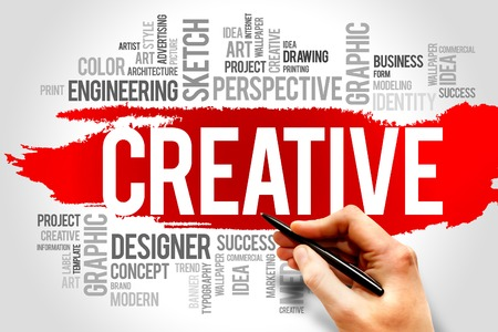 CREATIVE word cloud, business concept photo