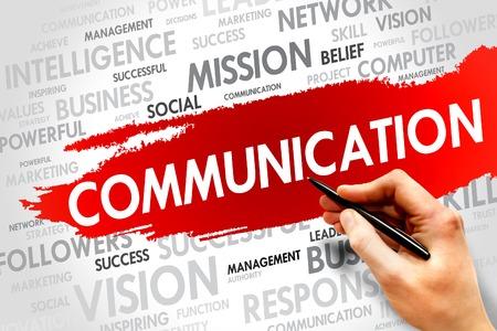 COMMUNICATION word cloud, business concept photo