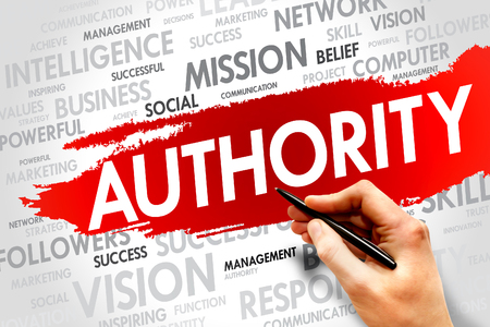 ascribed: AUTHORITY word cloud, business concept