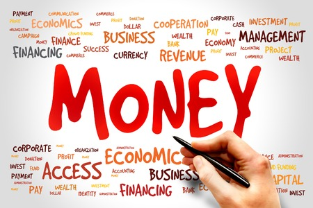 obligee: MONEY word cloud, business concept