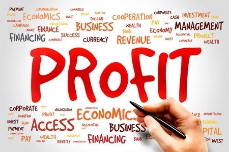 PROFIT word cloud, business concept photo