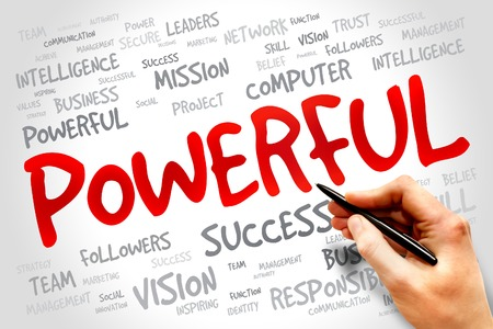 powerful creativity: POWERFUL word cloud, business concept